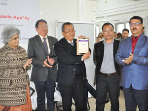 A Mobile App 'nGPF24x7', a miniature version of Online GPF Information System, was launched in Kohima