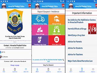 Hon'ble CM of HP launched 'Drug Free Himachal'- a mobile app developed by NIC Competency Centre for Mobile Application Development, Shimla
