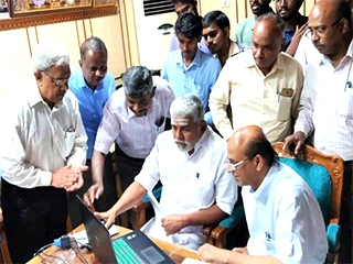 Hon'ble Electricity Minister, Puducherry launched Electricity Department website, developed by NIC