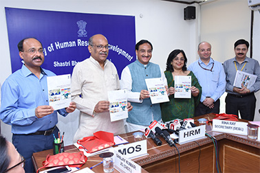 Union HRD Minister launched Integrated Online Junction for School Education 'Shagun
