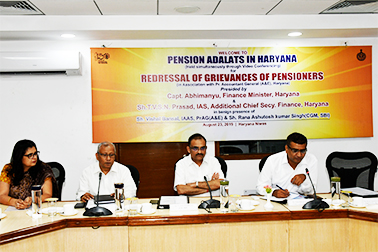 Haryana Government conducted Pension Adalats across the State