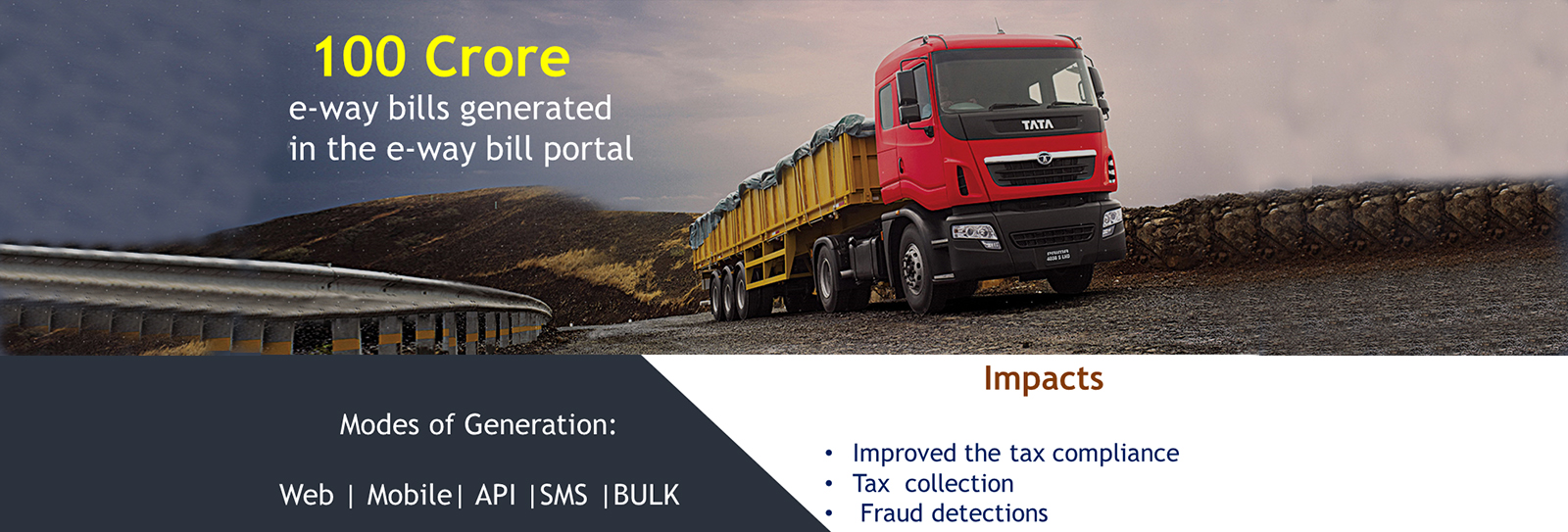 Image of NIC developed e-way bill portal reached the milestone of…