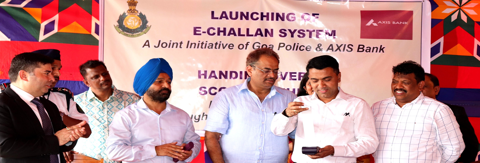 Image of NIC's e-Challan system launched by Hon'ble CM, Goa for…