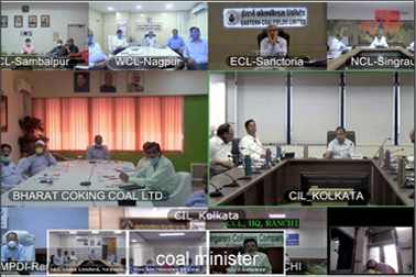 NIC VC supported the meeting of Hon'ble Minister of Coal & other senior officers, with CMDs of Coal Companies regarding Coal production amid Covid-19