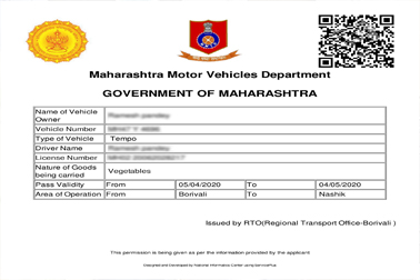 NIC developed & implemented 'ePass' system using ServicePlus framework for vehicle movement during COVID-19, in all 50 RTOs across Maharashtra within 36 hrs