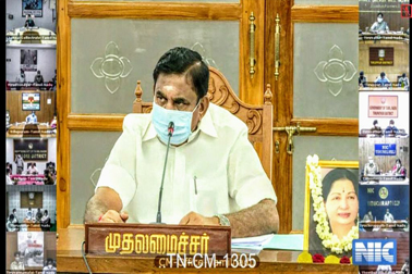 NIC provided Video Conferencing support for meeting of Hon'ble CM, Tamil Nadu with all District Collectors of State for review of COVID-19 situation