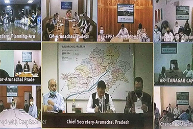 NIC VC supported meeting of Hon'ble CM, Arunachal Pradesh with Dy. CM, ministers & MLAs, CS, DGP, DCs etc to review COVID-19 status in the state
