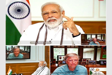 Hon'ble PM interacted with Mr Bill Gates, co-chair of Bill & Melinda Gates Foundation, via NIC Video Conferencing, to discuss global response to COVID-19