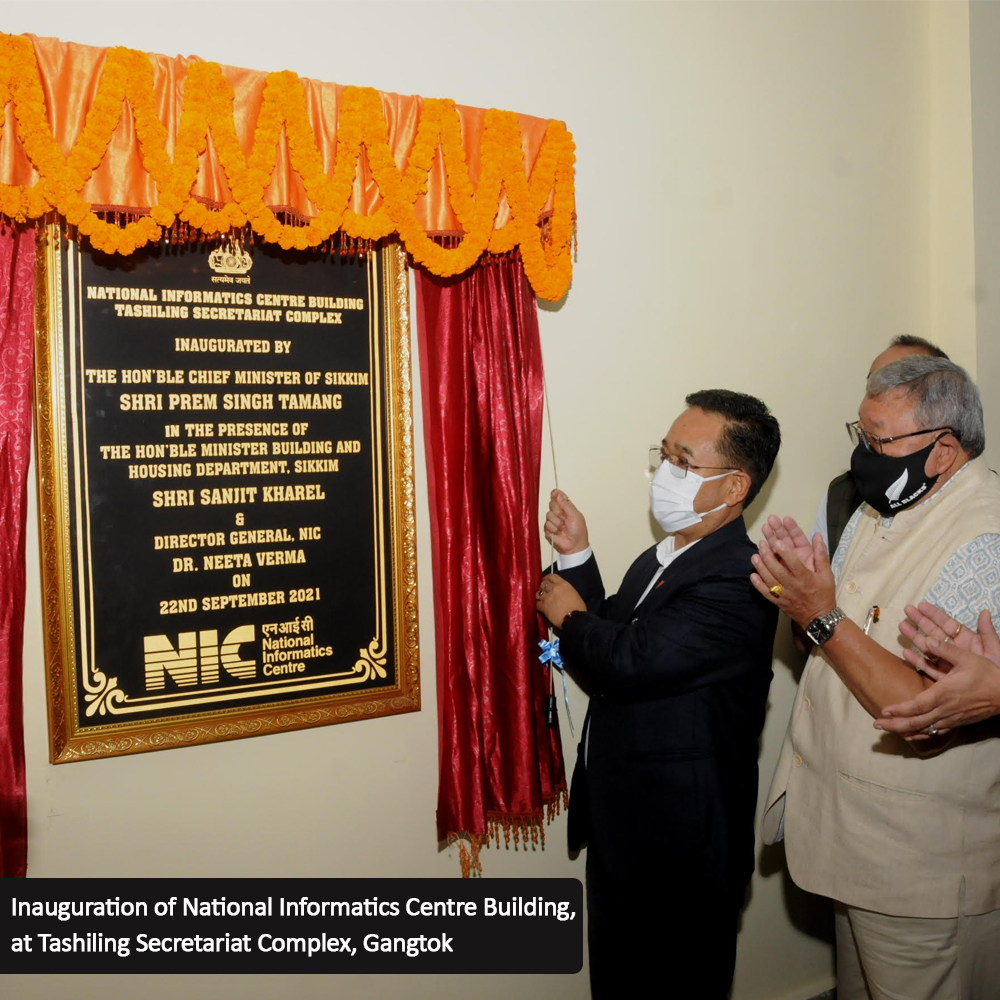 Image of Inauguration of NIC's Sikkim Office Building & National Knowledge Network Centre